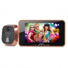 "WB-09161 5"" Smart Wireless Visual Digital Peephole Door Viewer w/ Doorbell / Video Recording"