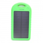ODEM 5V 5000mAh Dustproof Shockproof Waterproof Li-polymer Battery Solar Powered Power Bank - Green