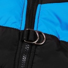 Water-resistant Quilted Padded Warm Winter Coat Jacket for Pet Dog - Blue + Black (Size S)
