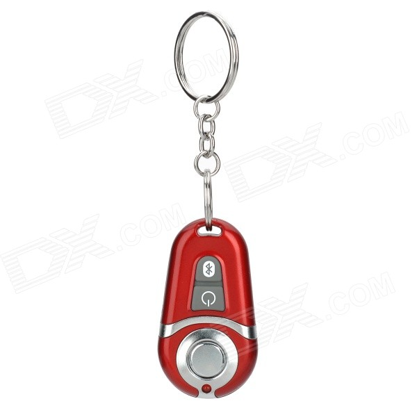 цены Bluetooth Selfie Shutter Remote Controller w/ Keychain for IPHONE / Samsung / Meizu - Red + Silver