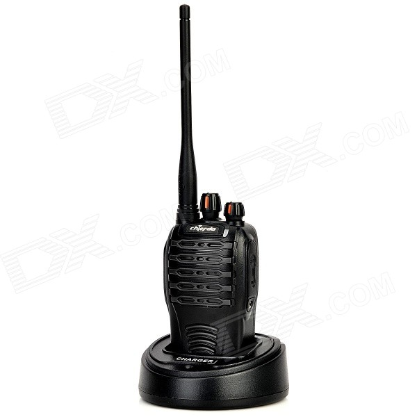 Chierda CD-528 Waterproof 16-Channel 400~470MHz Walkie Talkie - Black