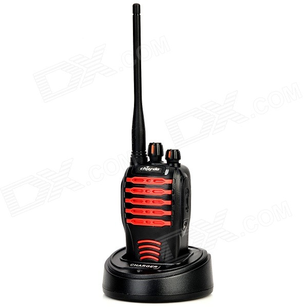 Chierda CD-528 Waterproof 16-Channel 400~470MHz Walkie Talkie - Black + Red