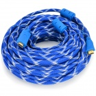 HDMI 1.4 Male to Male Woven Connection Cable - Blue + White (25m)