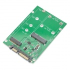 MSATA M.2(NGFF) 2-in-1 to SATA 3.0 Adapter Card - Green + Black