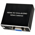 Aluminum Alloy HDMI to VGA + Audio + SPDIF Converter - Black + White
