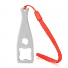 GP122A Aluminum Alloy Wrench w/ Strap for GoPro Hero 2 / 3 / 3+ - Silver + Red