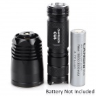 NITECORE CU6 440lm 9-Mode Cool White / Ultraviolet LED Tactical Flashlight - Black (1 x 18650)