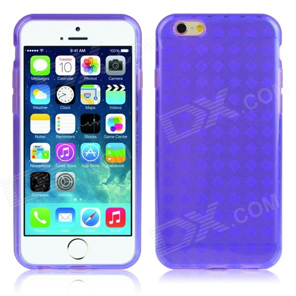 Hat-Prince Protective TPU Case w/ Anti-dust Plugs for IPHONE 6 4.7 - Purple protective pc tpu back case for iphone 5 w anti dust cover lavender purple