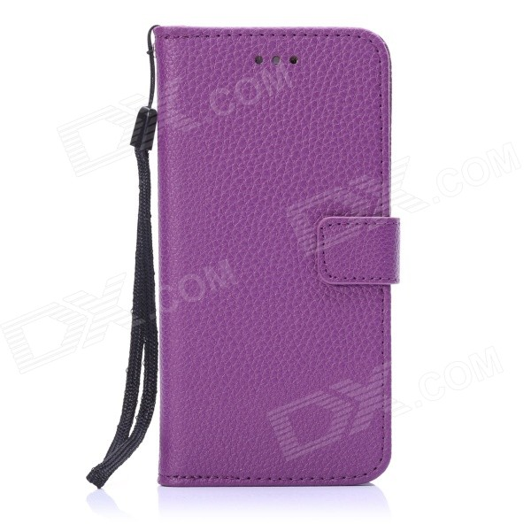 "ENKAY Protective PU Leather Case w/ Stand and Card Slots for IPHONE 6 4.7"" - Purple"