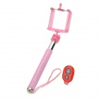 Universal Handheld Selfie Rod + Cell Phone Holder + Bluetooth Remote Shutter Set - Pink + Red