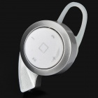 Mini Bluetooth V4.0 In-Ear Headset w/ Microphone for IPHONE / IPAD + More - Silver + White