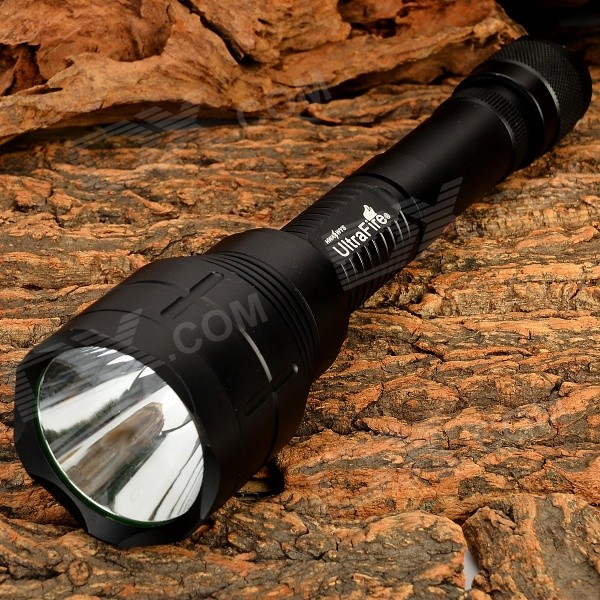 UltraFire XGH-026-L2 900lm 5-Mode White LED Flashlight - Black (1/2 x 18650)