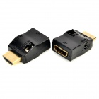 Dual Band IR Extender Receiver + Transmitter w/ HDMI Adapters Set for Remote Control - Black