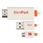 SlimPort Male to HDMI Male Adapter Cable w/ Micro USB - Black (205cm)