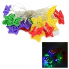 HH04 3W 530lm 20-LED RGB Waterproof Stars Decorative String Light - Red + Multi-Colored (4M / 220V)