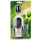 "Mini 1,4 ""LCD Sound Level Meter w / Batteri - Svart + Vit"