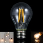 KINFIRE E27 4W 240lm 3000K Warm White 4-LED Filament Bulb - Transparent (AC 220V)