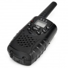 "YYT 667 0.8"" LCD 462~467MHz 22-Channel Walkie Talkie Set for Children - Black (6 x AA)"
