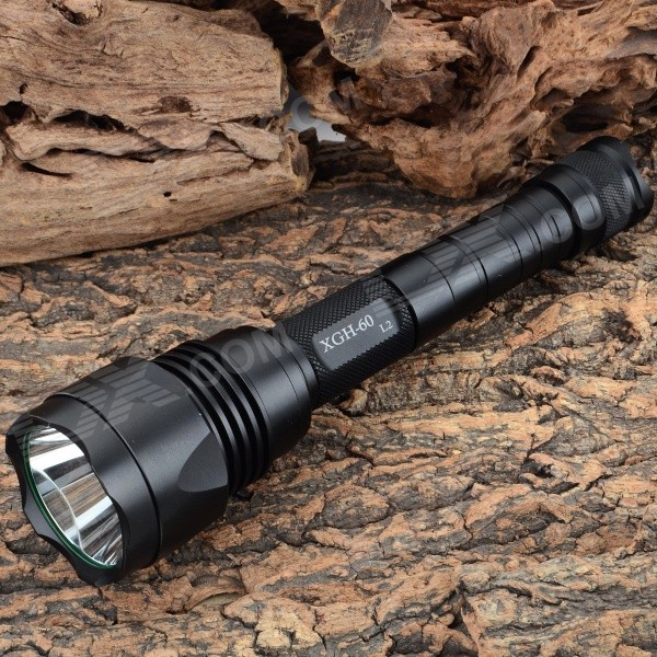 UltraFire XGH-60-L2 900lm 5-Mode White LED Flashlight - Black (2 x 18650) free shipping original jetbeam rrt 2 cree xm l2 led 550 lumens flashlight daily torch compatible with cr123 18650 battery