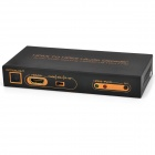 HDMI to HDMI Audio Decoder / Digital to SPDIF / 5.1-CH Converter - Black + Golden