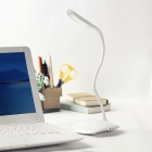 DSK-007 1.5W 100lm 6500K 14-LED White Dimmable USB Desk Lamp w/ Free Twisted Tube - White (5V)