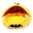YDL-WA3002-M Fashionable Pumpkin Style Nest Bed for Pet Cat / Dog - Orange + Yellow (Size M)