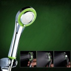 YDL-S-0913 3-Mode Adjustable Handheld Chrome-plated Shower Head - Silver + Green