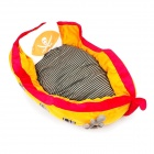 YDL-WA4009-M Fashionable Corsair Style Nest Bed for Pet Cat / Dog - Orange + Red (Size M)