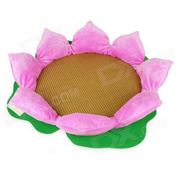YDL-Y4GW16HLH-M Fashionable Lotus Style Nest Bed for Pet Cat / Dog - Pink + Multi-Colored (Size M)
