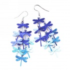 EQute Women's Stylish Unique Dragonfly Earrings - Blue