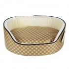 YDL-WA4007-G-M Fashionable Grid Style Nest Bed for Pet Cat / Dog - Golden + Multi-Colored (Size M)