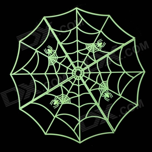 Glow-in-the-dark Spider Web Style Haunted House Bar Decoration Ornament for Halloween kerst navidad 2017 halloween haunted house supplies bar ktv decorative props tricky toys luminous spider web 142g