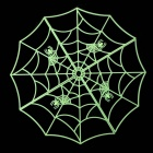 Glow-in-the-dark Spider Web Style Haunted House Bar Decoration Ornament for Halloween