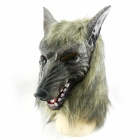 Animal Suits High-grade Brown Wolf Gloves Latex Masks Terror for Halloween - Black