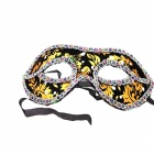 Halloween puku Meikki Ball Masquerade Mask - Musta + Golden