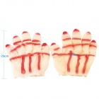 Halloween Party Makeup Prop Male Beast Paw Gloves - White + Red