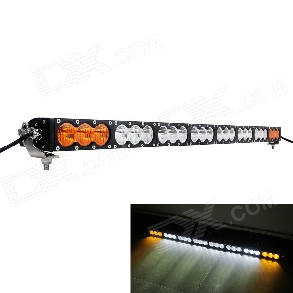 MZ 240W 19200lm 590nm 6500K White + Yellow Light LED Worklight Bar - Black (10~30V) система освещения oem 42 240w cree offroad 4 x 4 awd suv atv 4wd awd