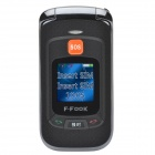 "F-Fook 1.4"" + 2.4"" Dual LCD Screen Dual-SIM Bluetooth2.0 Quad-band GSM Phone w/ MP3 / FM"