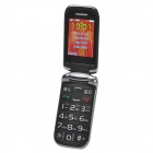 "F-Fook 1,4 ""+ 2,4"" Dual LCD Screen Dual SIM Quad-band GSM telefone de Bluetooth 2.0 w / MP3 / FM"