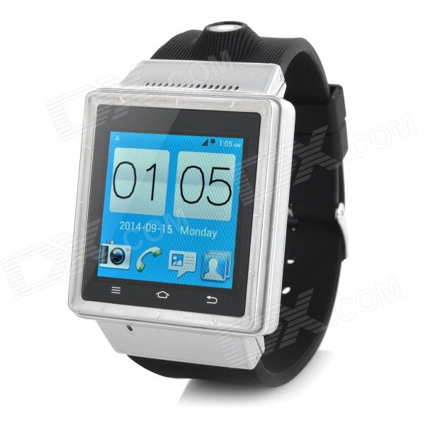 ZGPAX S6 1.54 Touch Screen Dual Core Android 4.0 3G Smart Phone Watch w/ Camera /Wi-Fi - Silver(UK) wearable smart phone watch zgpax s5 1 54 touch screen dual core android 4 0 w camera wi fi eu