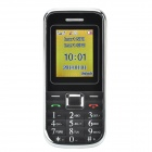 "1.8"" LCD Screen Dual-SIM Card Quad-band GSM Bar Phone w/ MP3 / FM - Black + Silver"