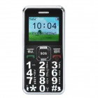 "A555 1.8"" LCD Screen Quad-band GSM Bar Phone w/ MP3 / FM/ SOS/ LED Light/ UV Lamp - Black + Silver"