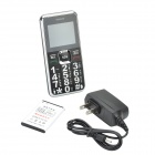"GS89 1.8"" LCD Quad-band GSM Bar Phone w/ SOS, LED Light - Black+Silver"