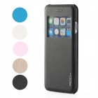 ROCK Protective Flip Ooen PU + PC Case w/ Display Window / Auto Sleep for IPHONE 6 - Black