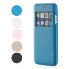 ROCK Protective Flip Ooen PU + PC Case w/ Display Window / Auto Sleep for IPHONE 6 - Blue