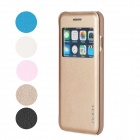 ROCK Protective Flip Ooen PU + PC Case w/ Display Window / Auto Sleep for IPHONE 6 - Champagne