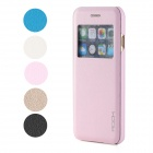 ROCK Protective Flip Ooen PU + PC Case w/ Display Window / Auto Sleep for IPHONE 6 - Pink