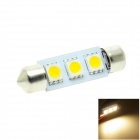 HONSCO feston 39mm 1W 3000K 30lm 3-5050 SMD LED Blanc Chaud voiture Dome / License Plate lampe (12V)