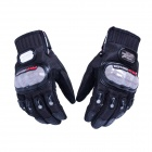 PRO-BIKER DXMS-02 Skid-Proof Lycra Full Finger Motorcycle Racing Gloves - Black (Pair / M)
