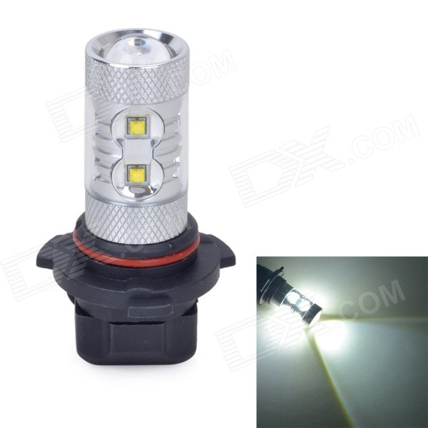 9006 50W 550lm 7000K White Light LED Car Foglight - Silver (DC 10~24V)